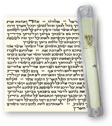 picture about Mezuzah Prayer Printable named Mezuzah Scroll Crystal clear Circumstance